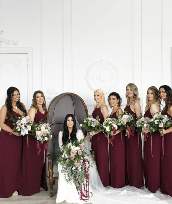 Kendra Ruth Photography, Fall Wedding, Red Wedding, Organic Floral Bouquets, Bridesmaids, Awesome Bouquet, Luxury Wedding