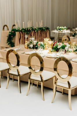 Aria Gold Chairs, Fall Wedding Design, Kendra Ruth Photo